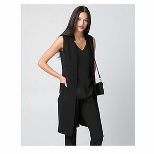 Long Inverted Collar Vest